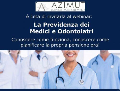 Webinar 'La Previdenza dei Medici e Odontoiatri' – Mercoledì 17 Giugno 2020 ore 18 (1 h)